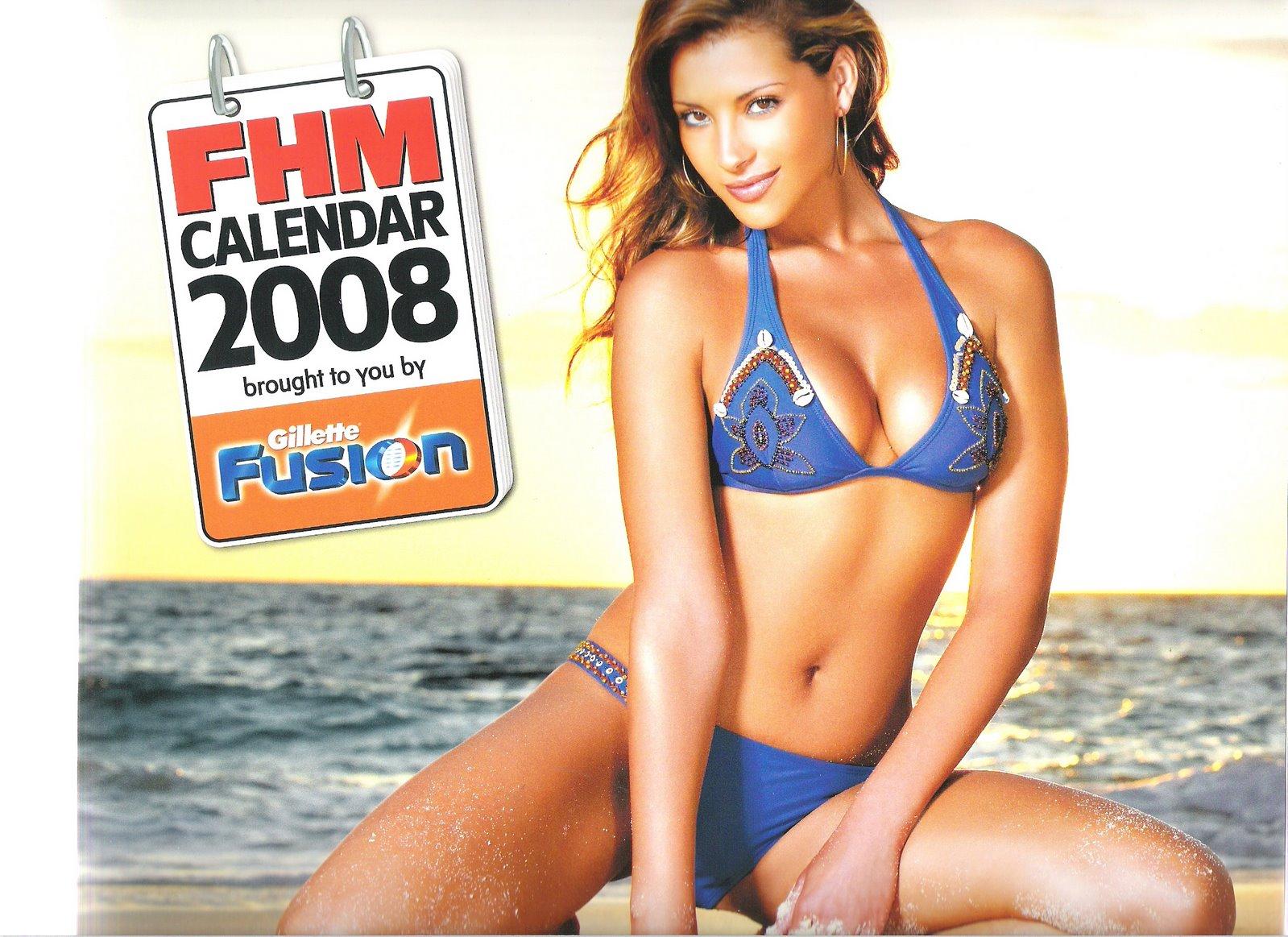 bra Bikini FHM Official Calendar naked photo 2017