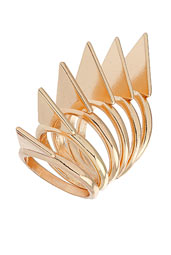 Topshop arrow tip stack rings